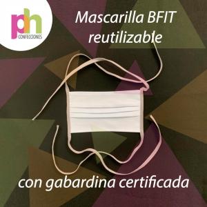Mascarilla Reutilizable Antifluido Bfit