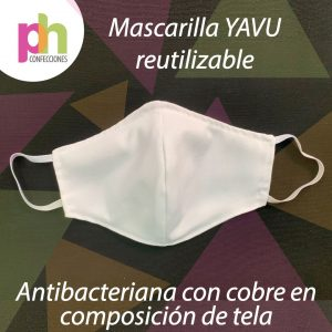 Mascarilla Reutilizable Antibacterial Yavu