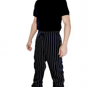 Pantalon Cargo gabardina con pretina elasticada ajustable